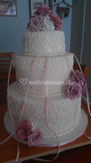 Hermosas torta personalizada