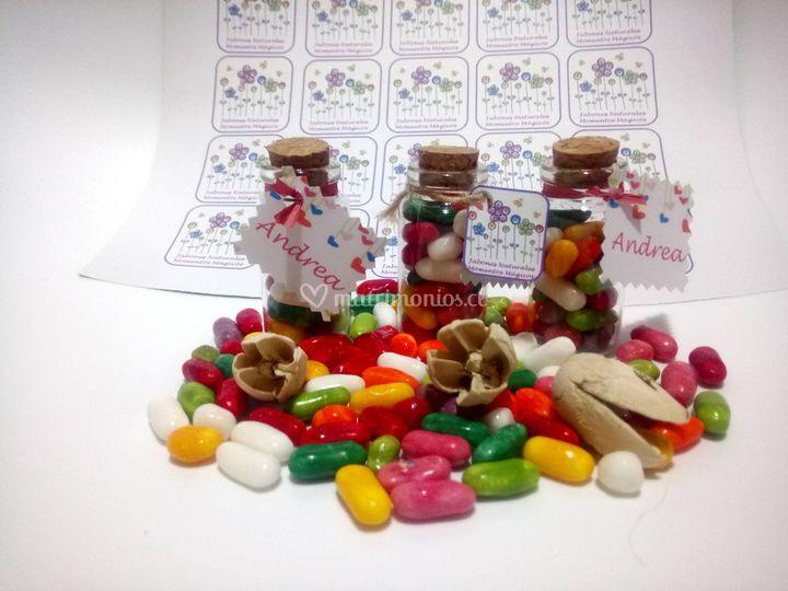 Botellitas con dulces