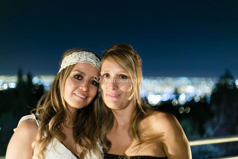 La novia y amiga
