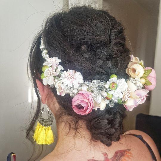 Peinado boho chic para novia