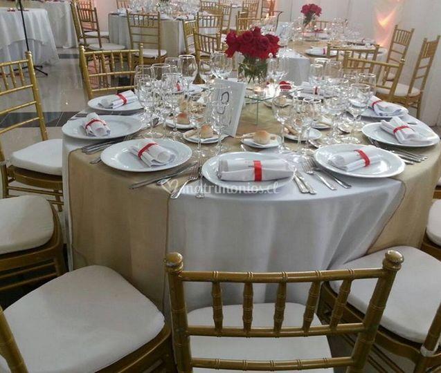Vista de las mesas