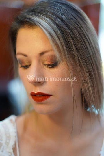 Maquillaje novia vanguardista