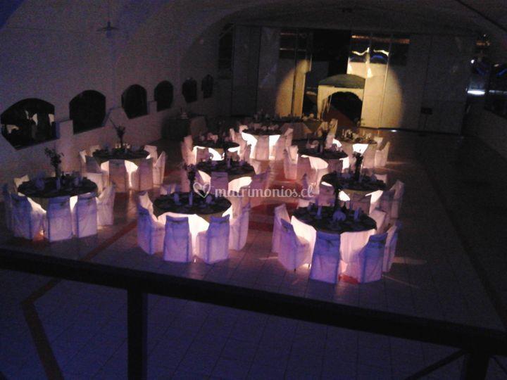 Mesas iluminadas
