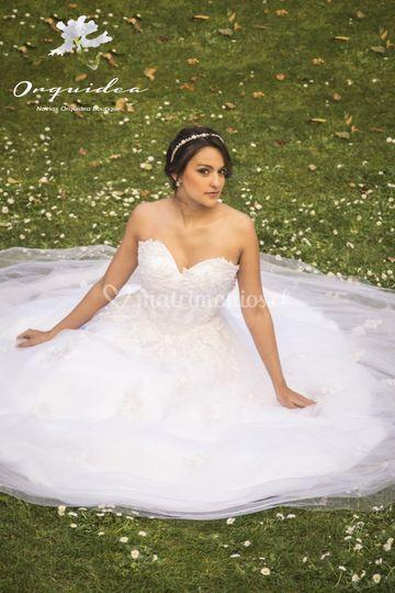 Traje de novia perlas