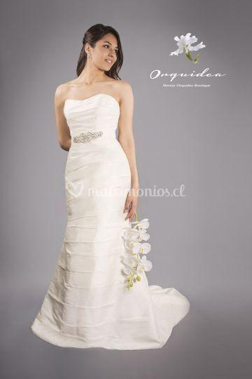 Traje de novia seda