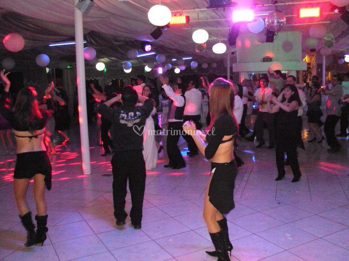 En la pista de baile