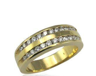 Anillo oro amarillo doble riel