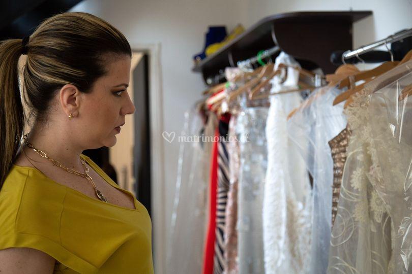 Eligiendo vestidos para novias