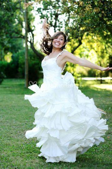 Helena Quiroga vestido paz