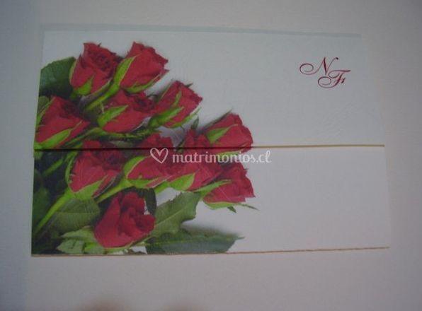 Parte con rosas rojas