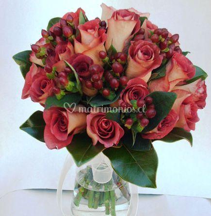 Ramo novia rosa leonidas