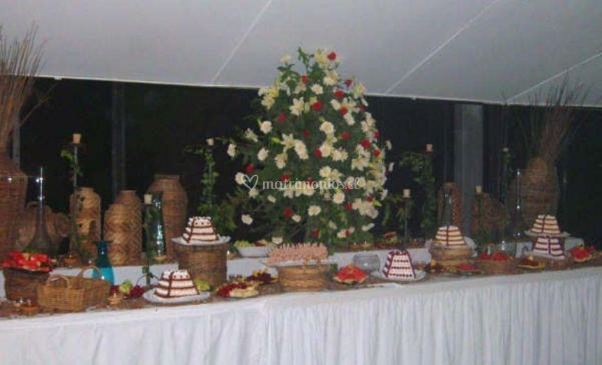 Buffet y decoración