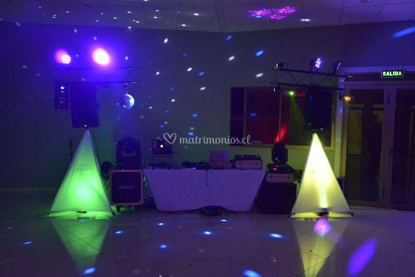 Montaje DJ set bodas