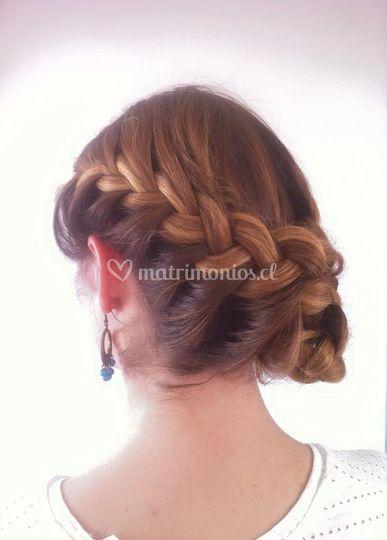 Peinado trenzas novia