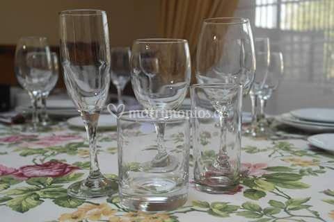 Copas para el banquete