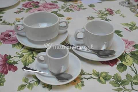 Tazas de té y café