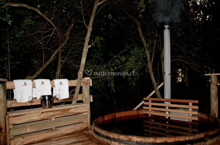 Hot Tubs en medio del bosque