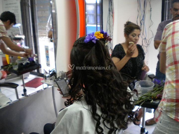 Peinado con extensiones
