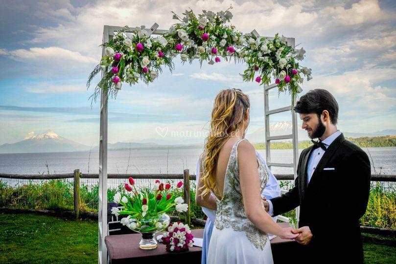 Ceremonia en jardin lavanda