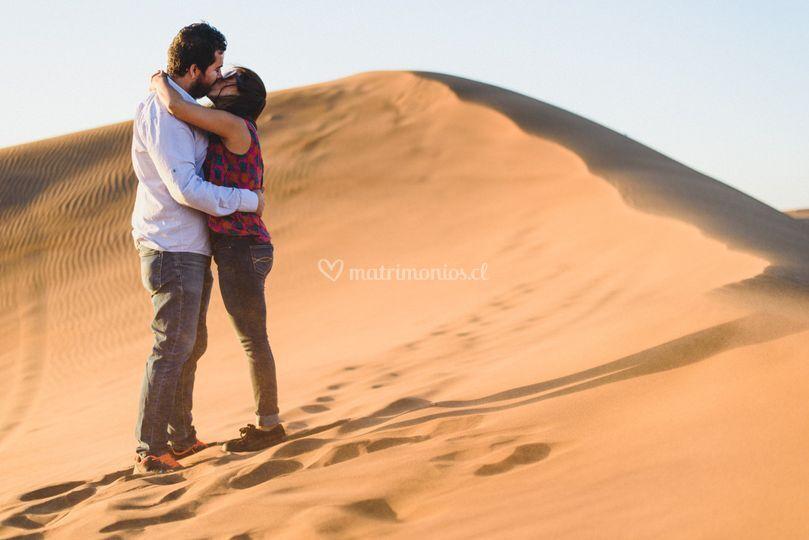Preboda en las dunas