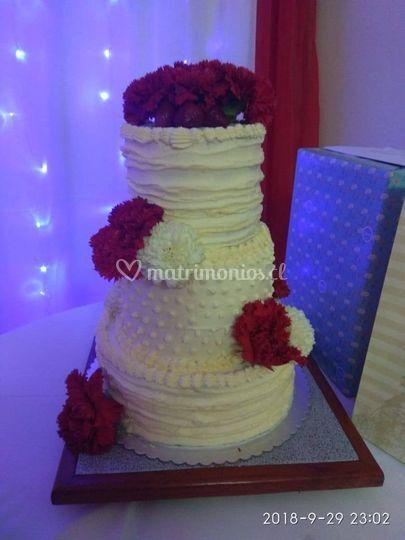 Torta matrimonio 80 personas