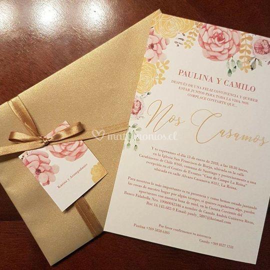 Invitación matrimonio Pauly
