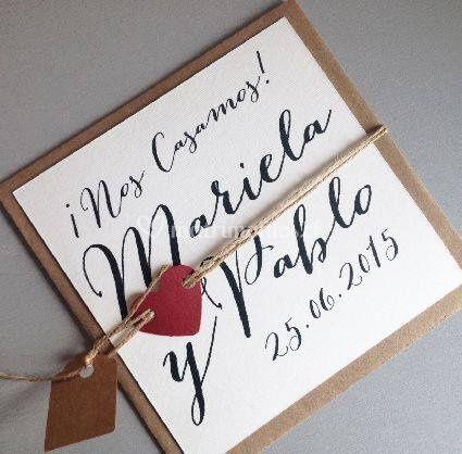 Invitación matrimonio Roberta