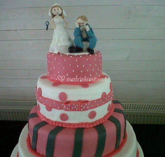 Diseño de pastel rosado