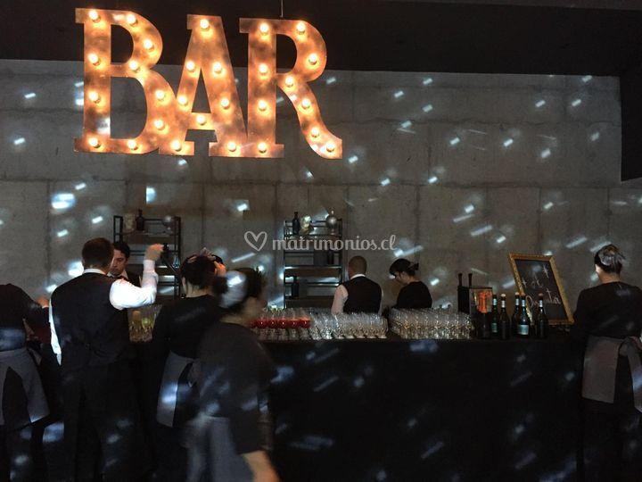 Atención de bar