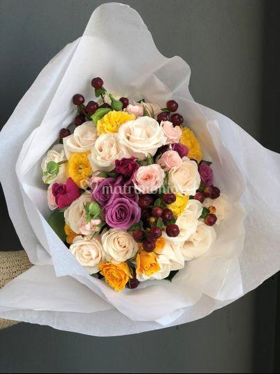 Ramo rosas de jardin