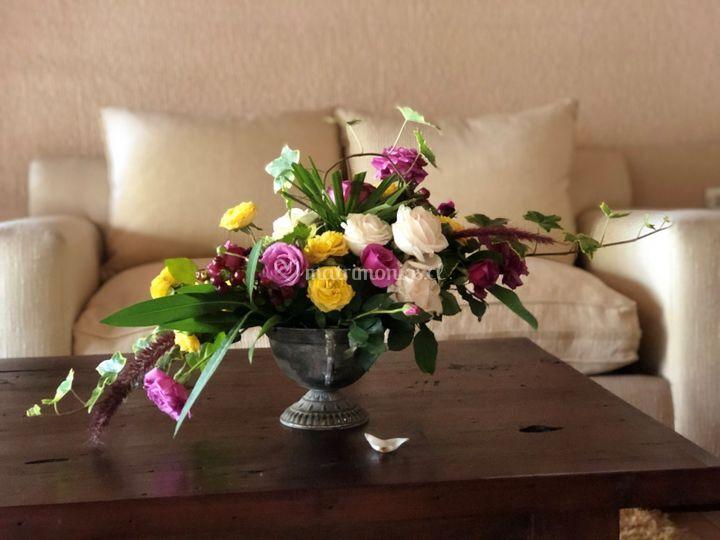 Decoración floral antigua