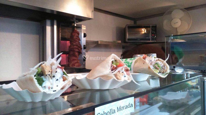 Kebab pan pita y kebab tortilla