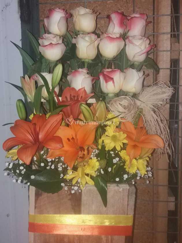 Arreglo Floral De Jardín De Emilia Foto 86