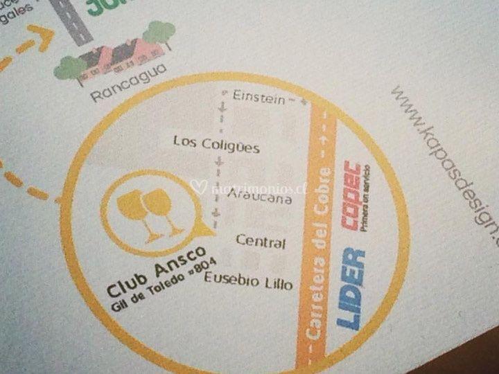 Mapa - invitaciones