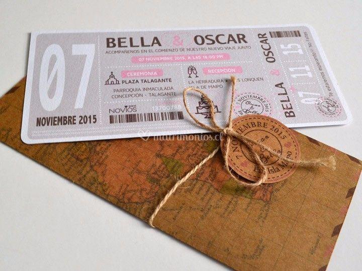 Ticket Bella y Oscar