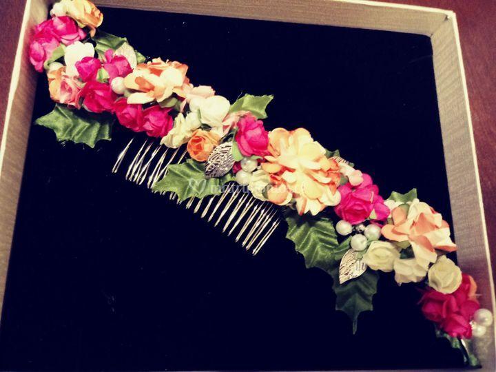 Flores y pedrería
