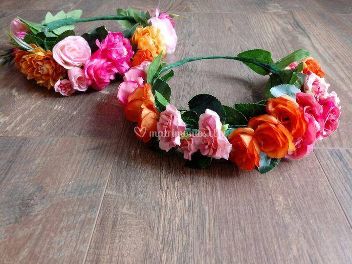 Coronas de flores de verano