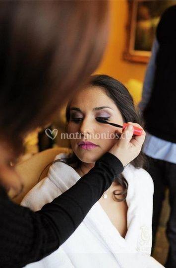 Maquillando la novia
