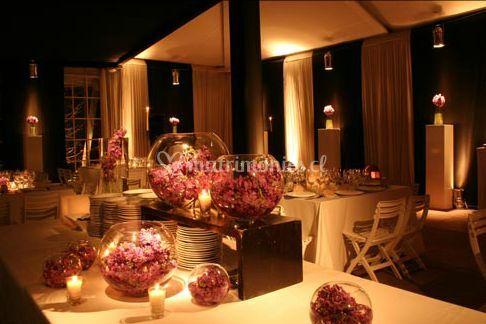 Ideas con luces y decoración blanca
