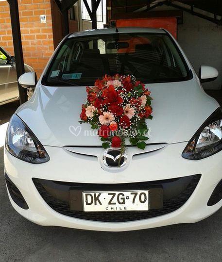 Ramos para autos de bodas