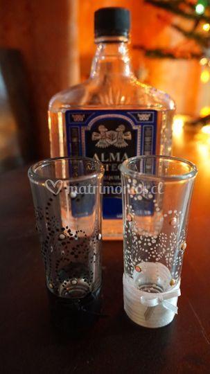 Tequilazos para brindis Novios