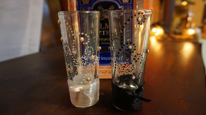 Vasitos Tequilazo brindis