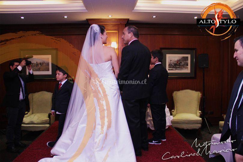 Matrimonio en hotel