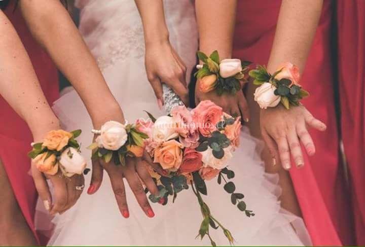 Rosas pastel y corsages