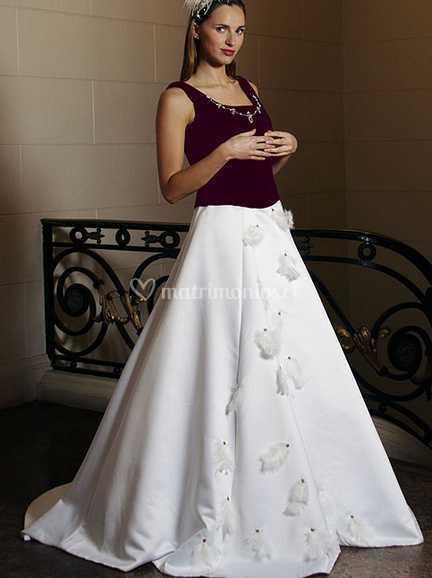 Vestido Color Uva De Juliet Bridal Foto 5
