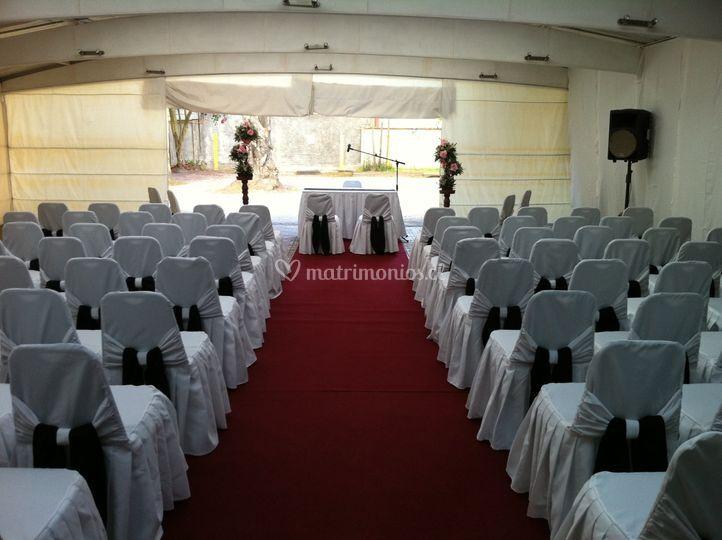 Ceremonia en el hotel