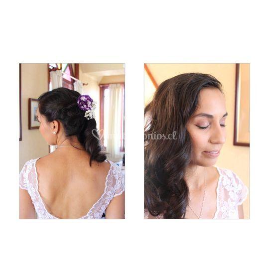 Novia, hair y makeup