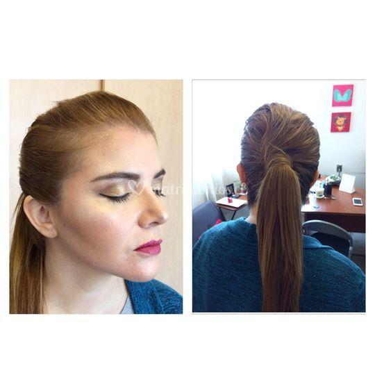 Maquillaje y peinado social