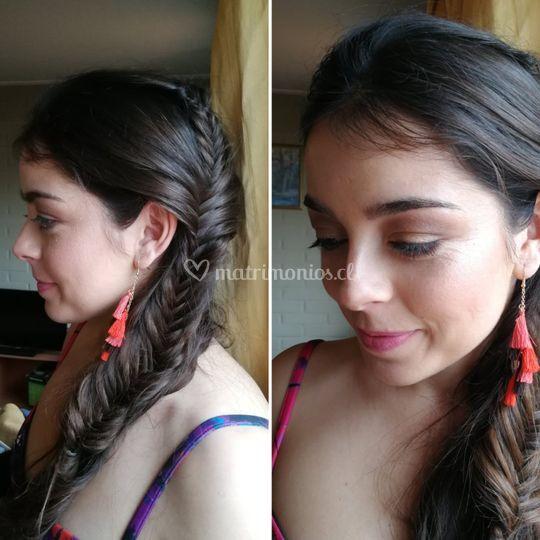 Peinado y maquillaje invitada