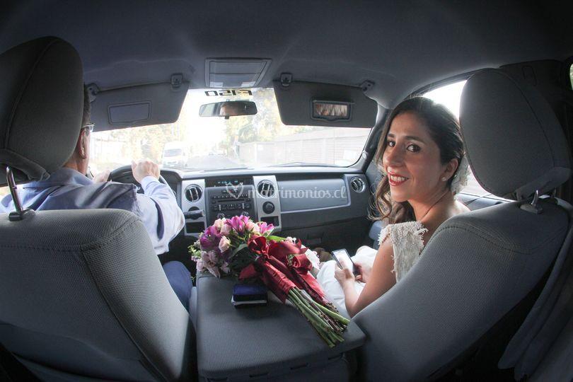 En el vehículo